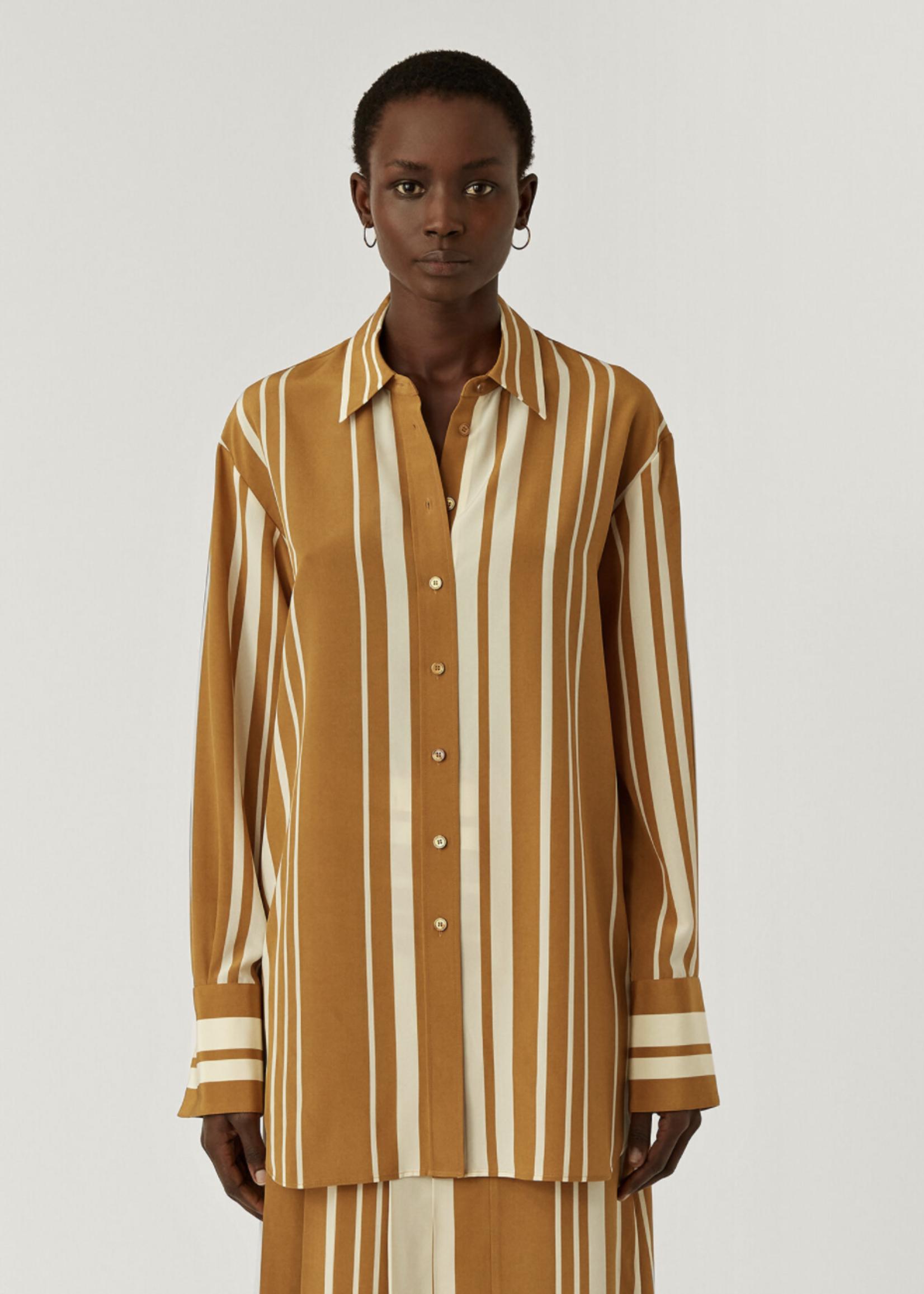 Joseph joseph brooks silk stripes grey/ocre