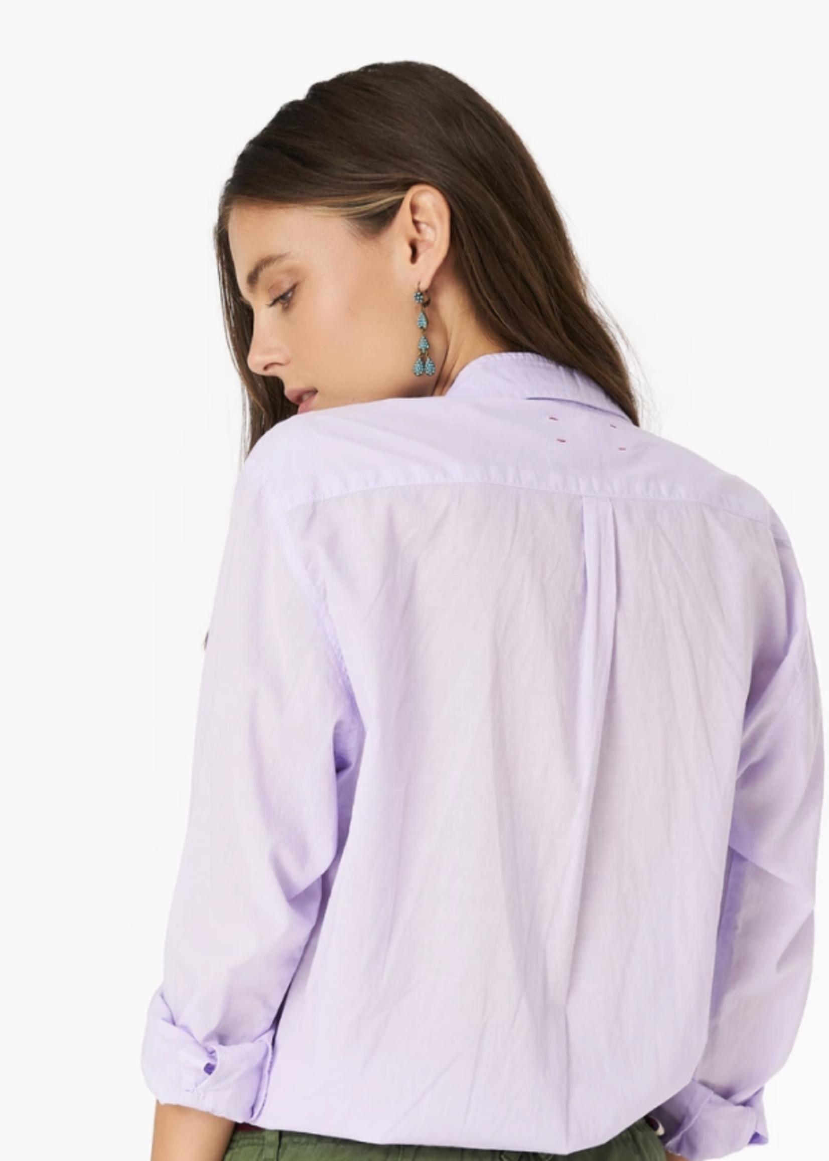 xirena xirena beau shirt lavender bloom