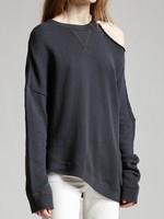 r13 r 13 distorted sweater black