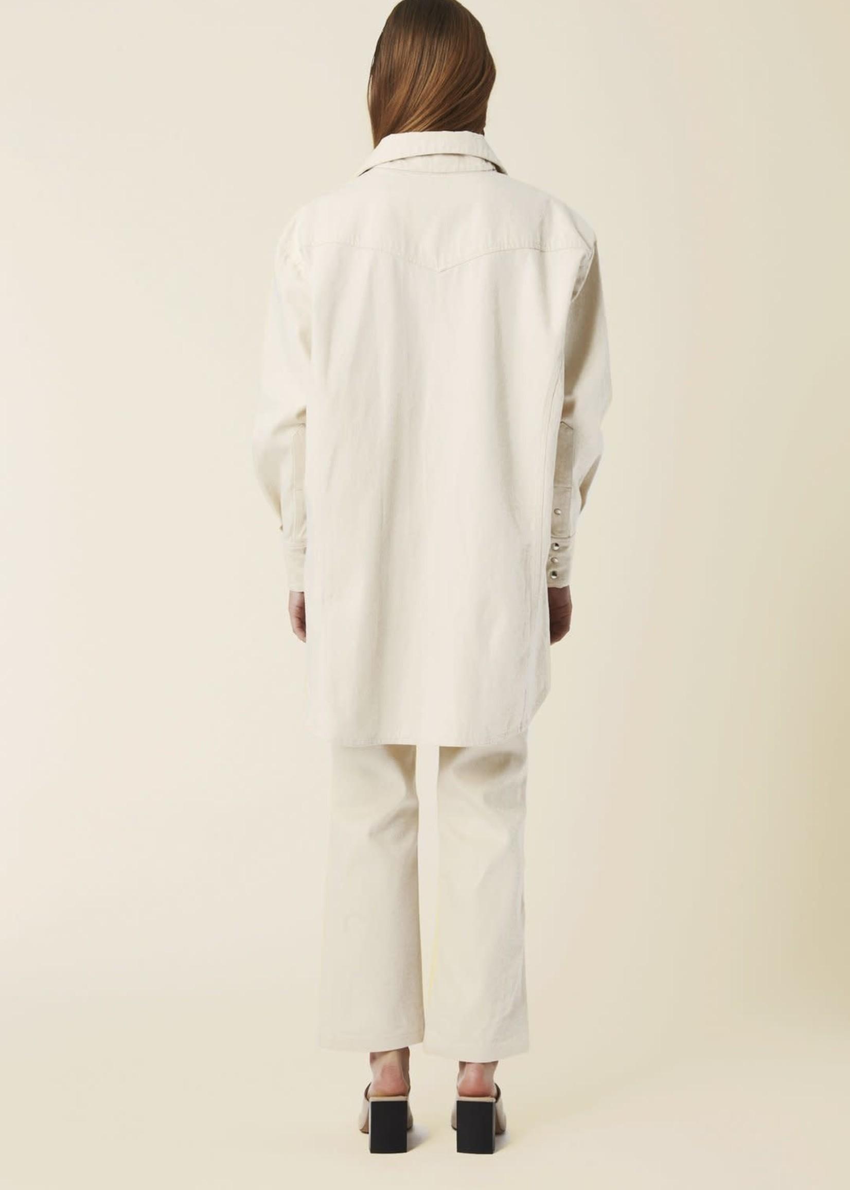 facon jacmin facon jacmin oversized shirt dress /jacket ecru
