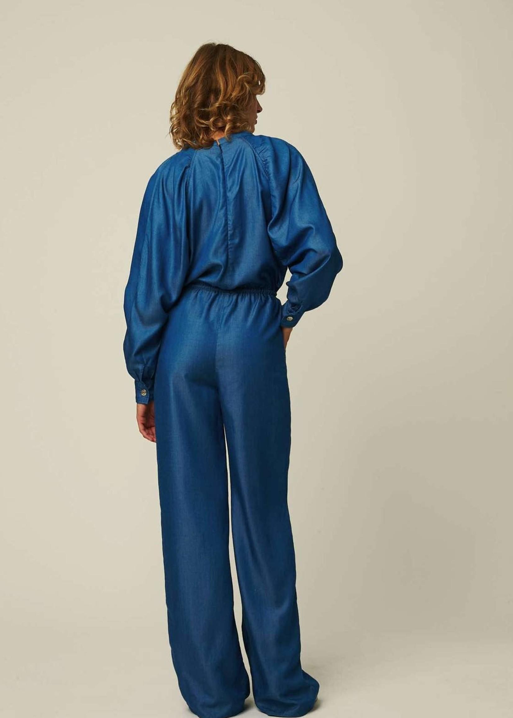 facon jacmin facon jacmin jumpsuit lyocel mid blue