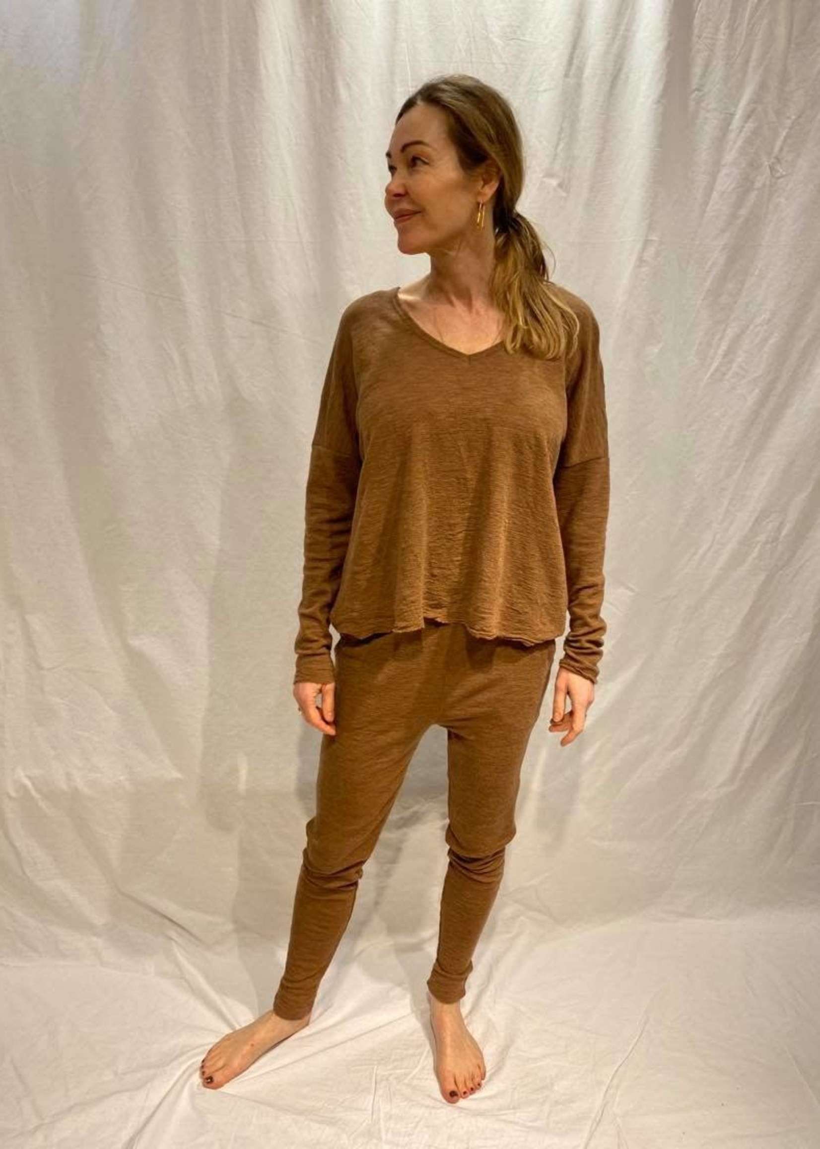 by basics by basics wide shirt v neck