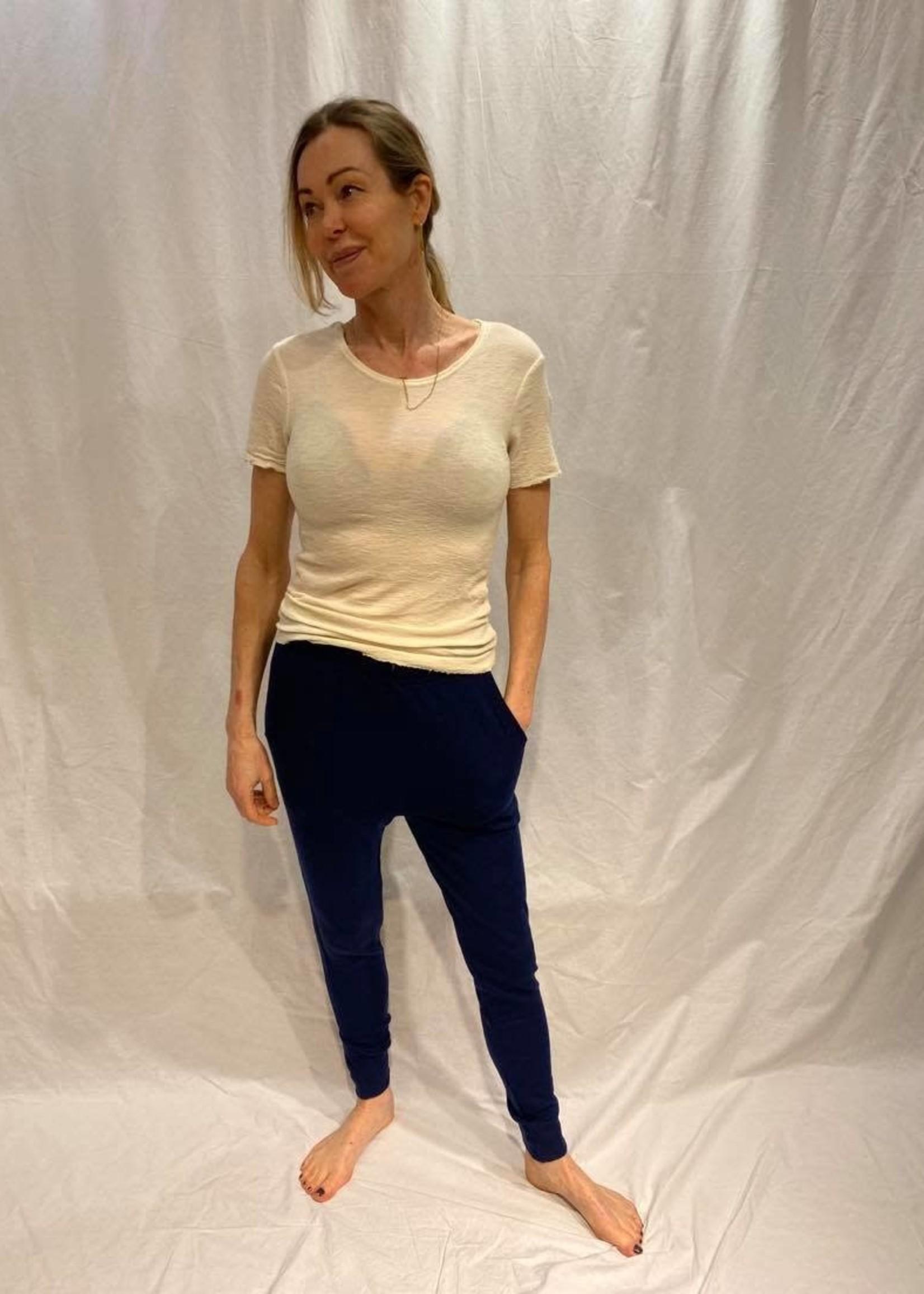 by basics by basics tee round neck short sleeve raw white