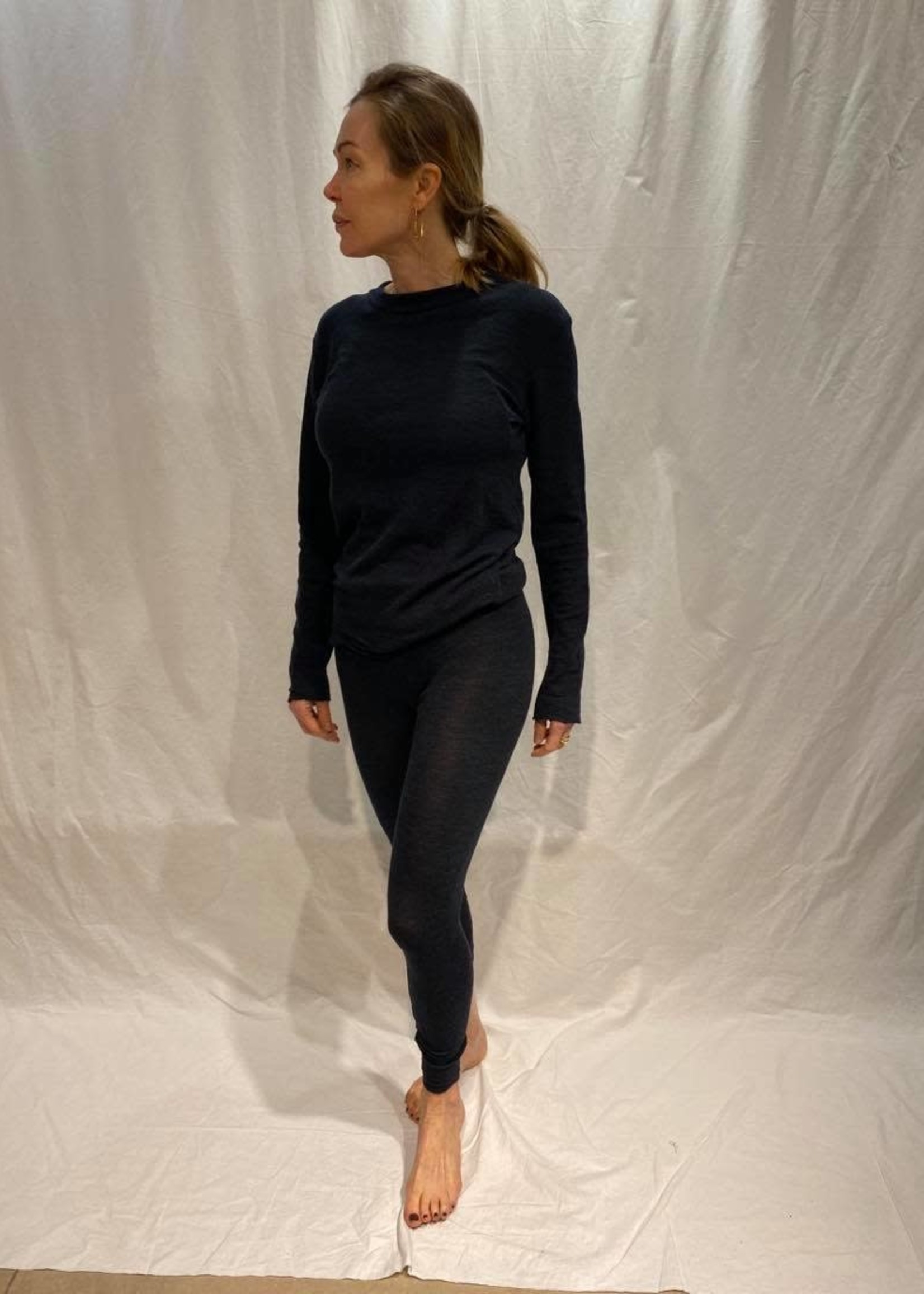 by basics by basics legging midnight blue melange