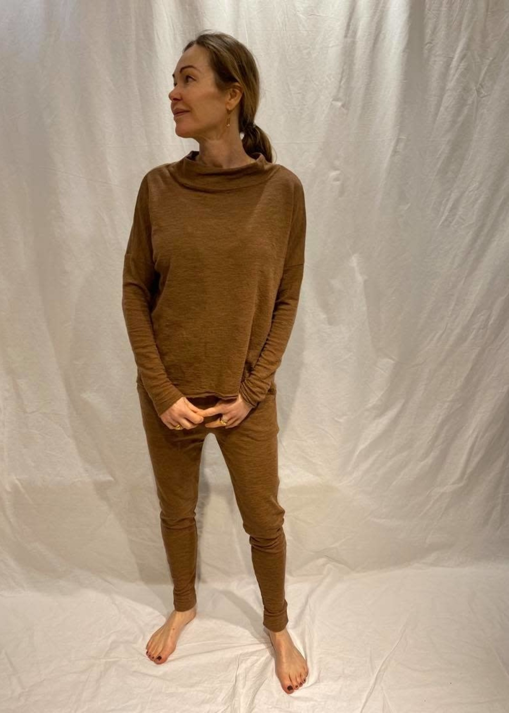 by basics by basics longsleeve wide  tee small turtleneck