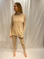 by basics by basics tee loose roll neck sand melange