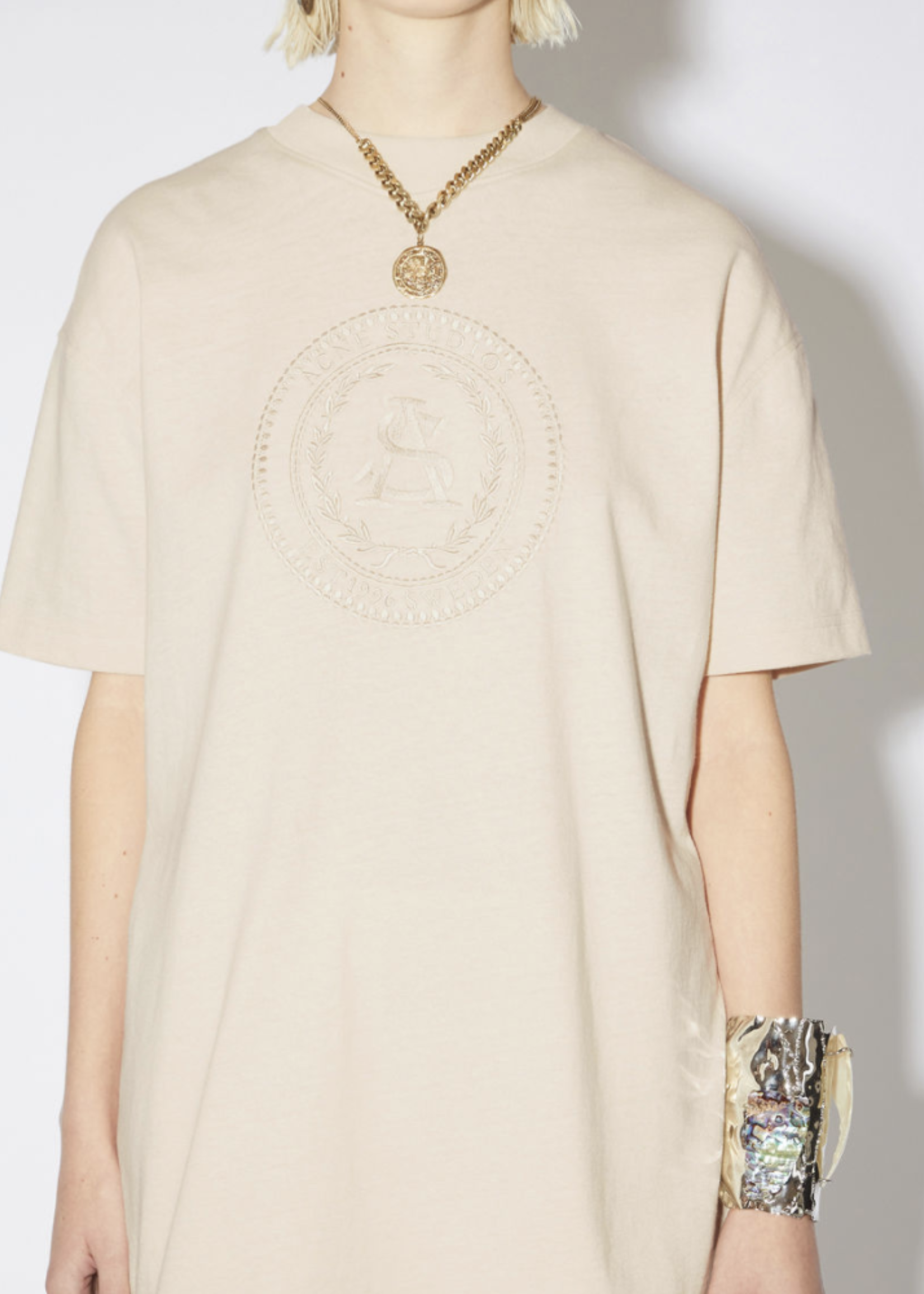 Acne Studios Acnestudios  Elice  embroided coconut white