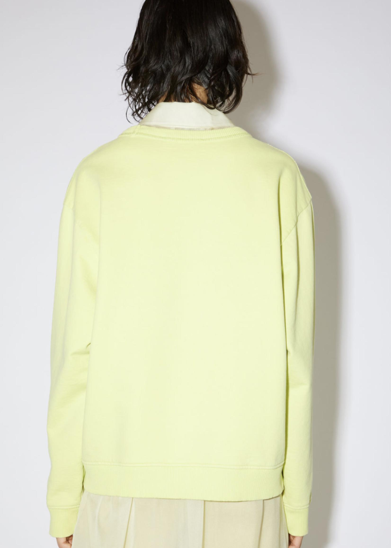 Acne Studios Acnestudios fierre stamp sweater  lemon yellow