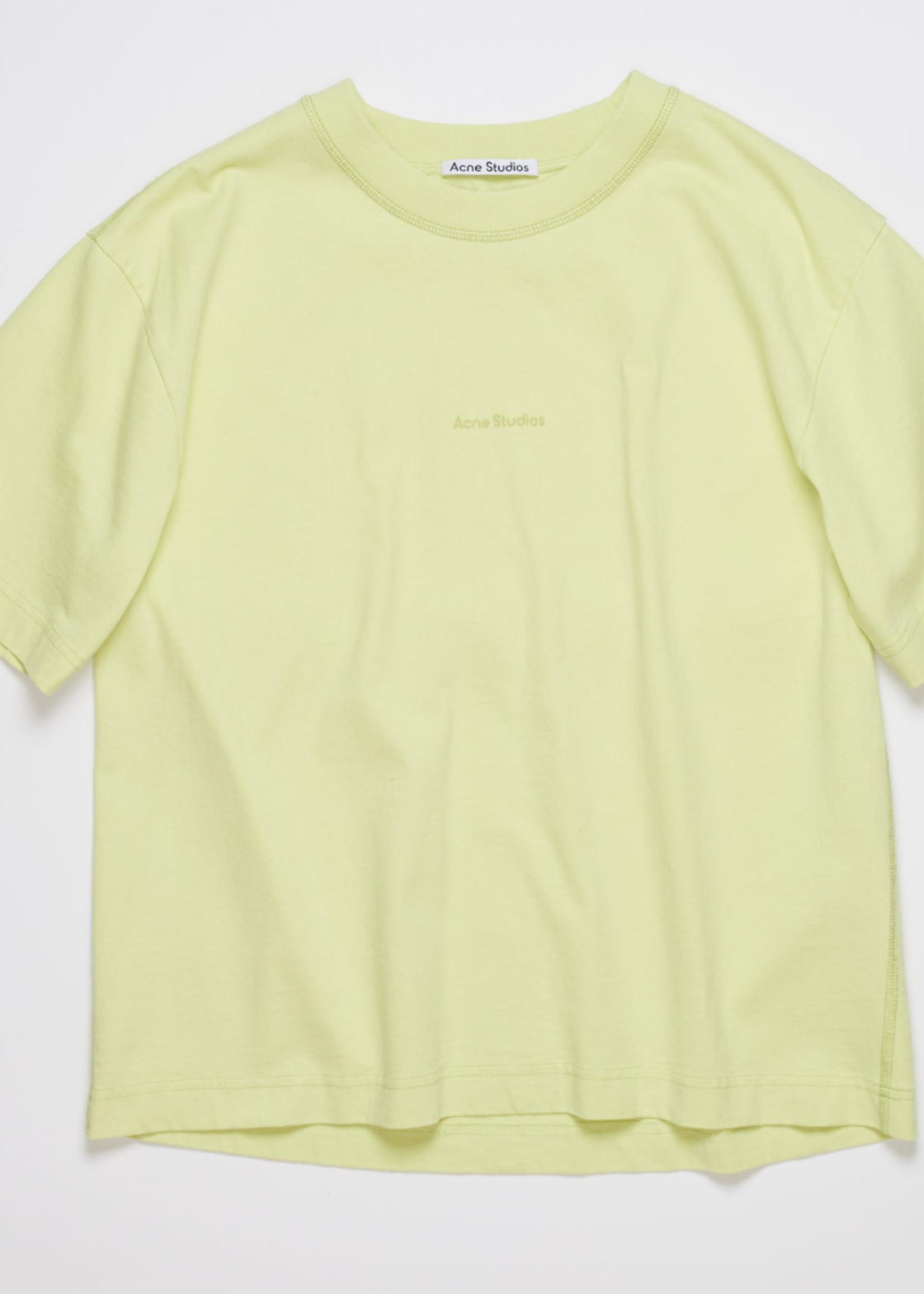 Acne Studios acnestudios edie stamp tee lemon yellow