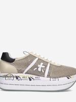 Premium sneakers Premiata sneakers Beth beige net