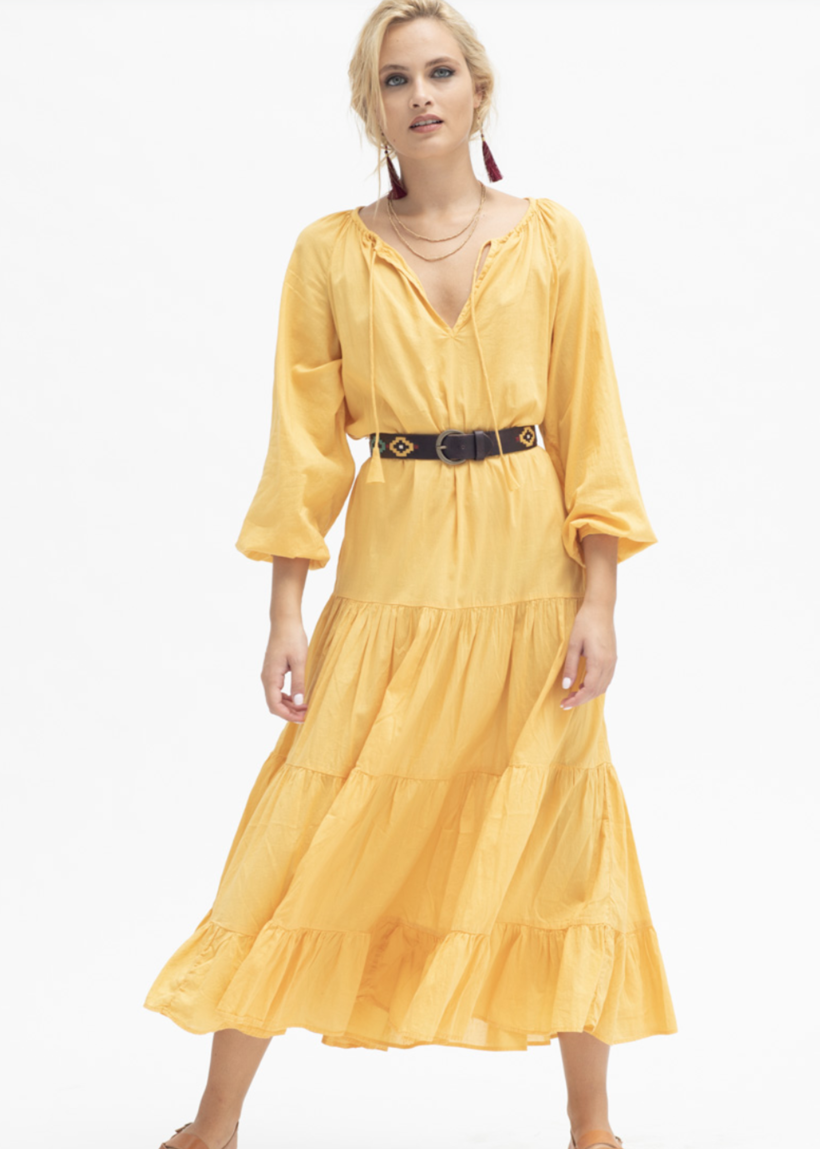 colores colores santorini dress marigold