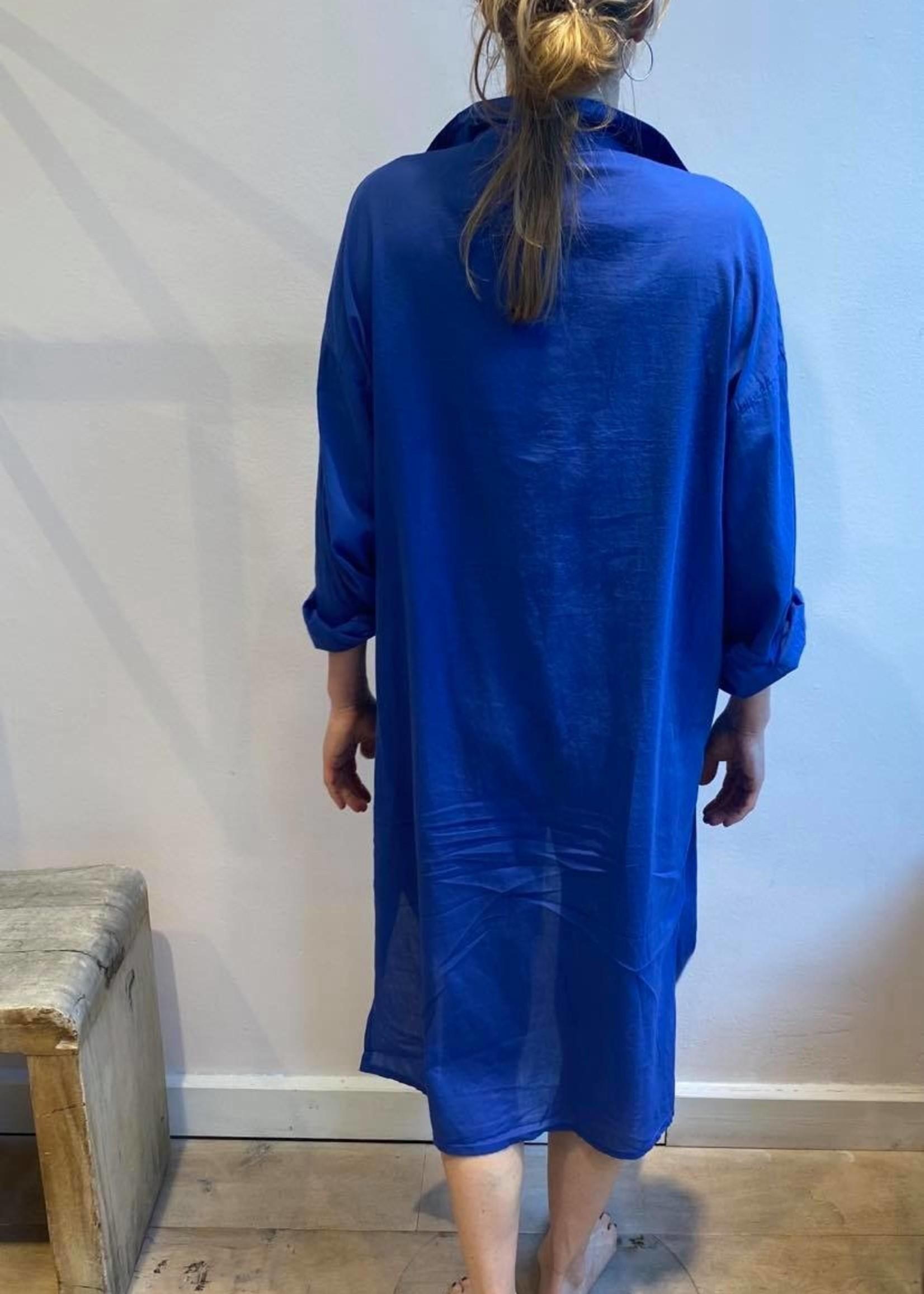 colores colores knossos shirt dress classic blue