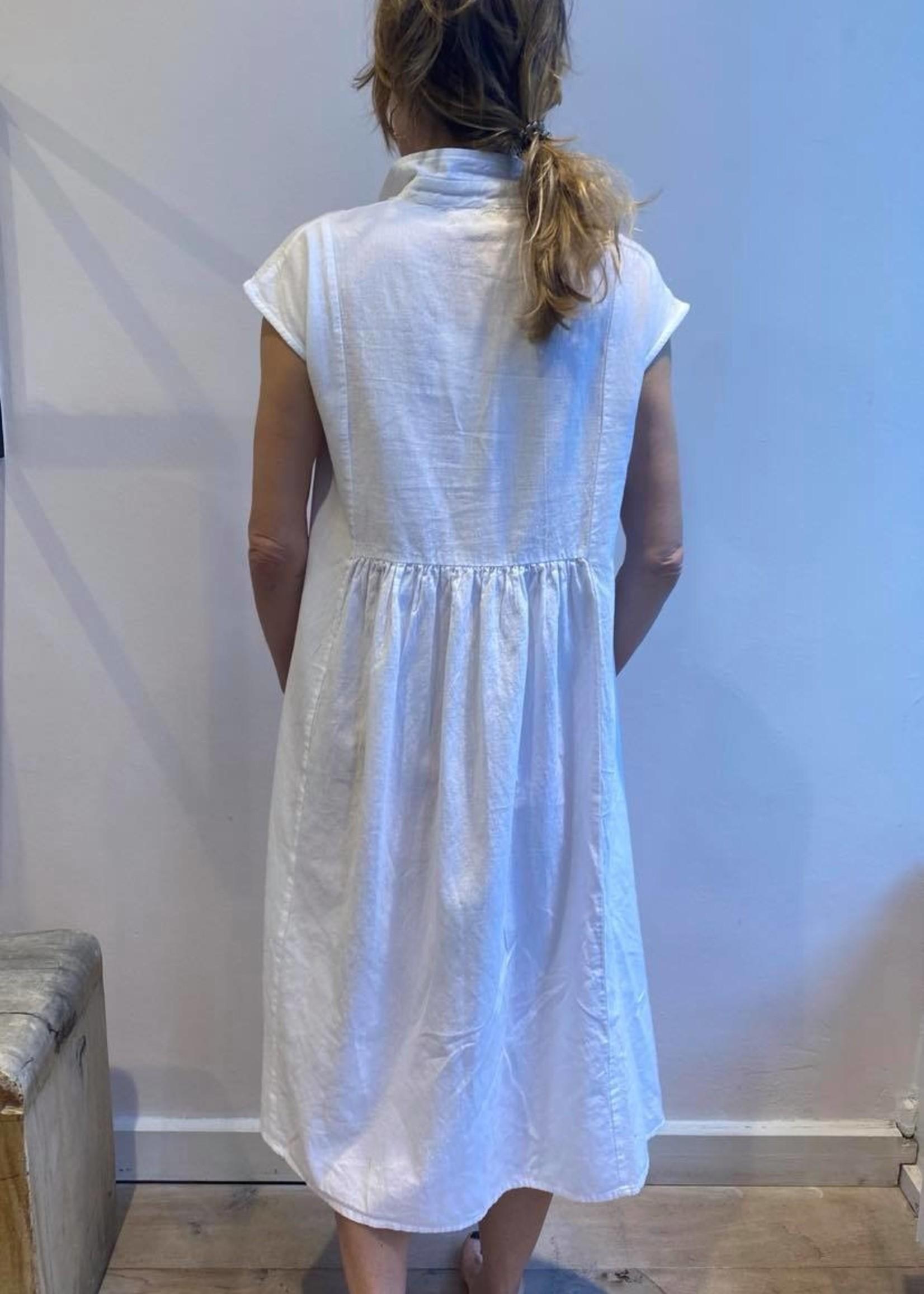 colores colores anafi dress white