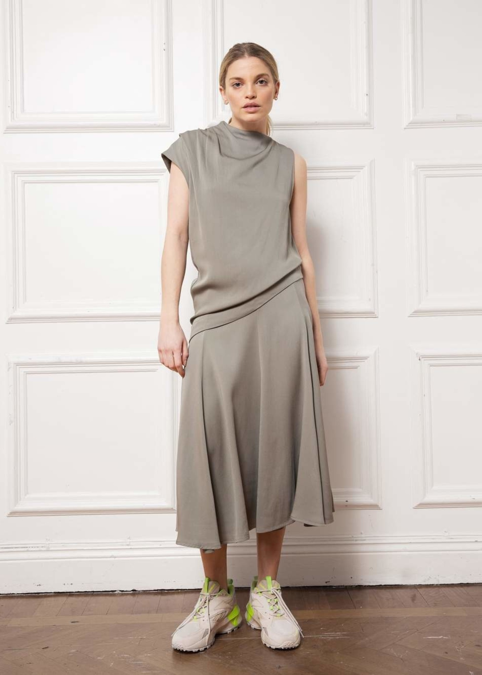 Ahlvar gallery  ofelia skirt , light military