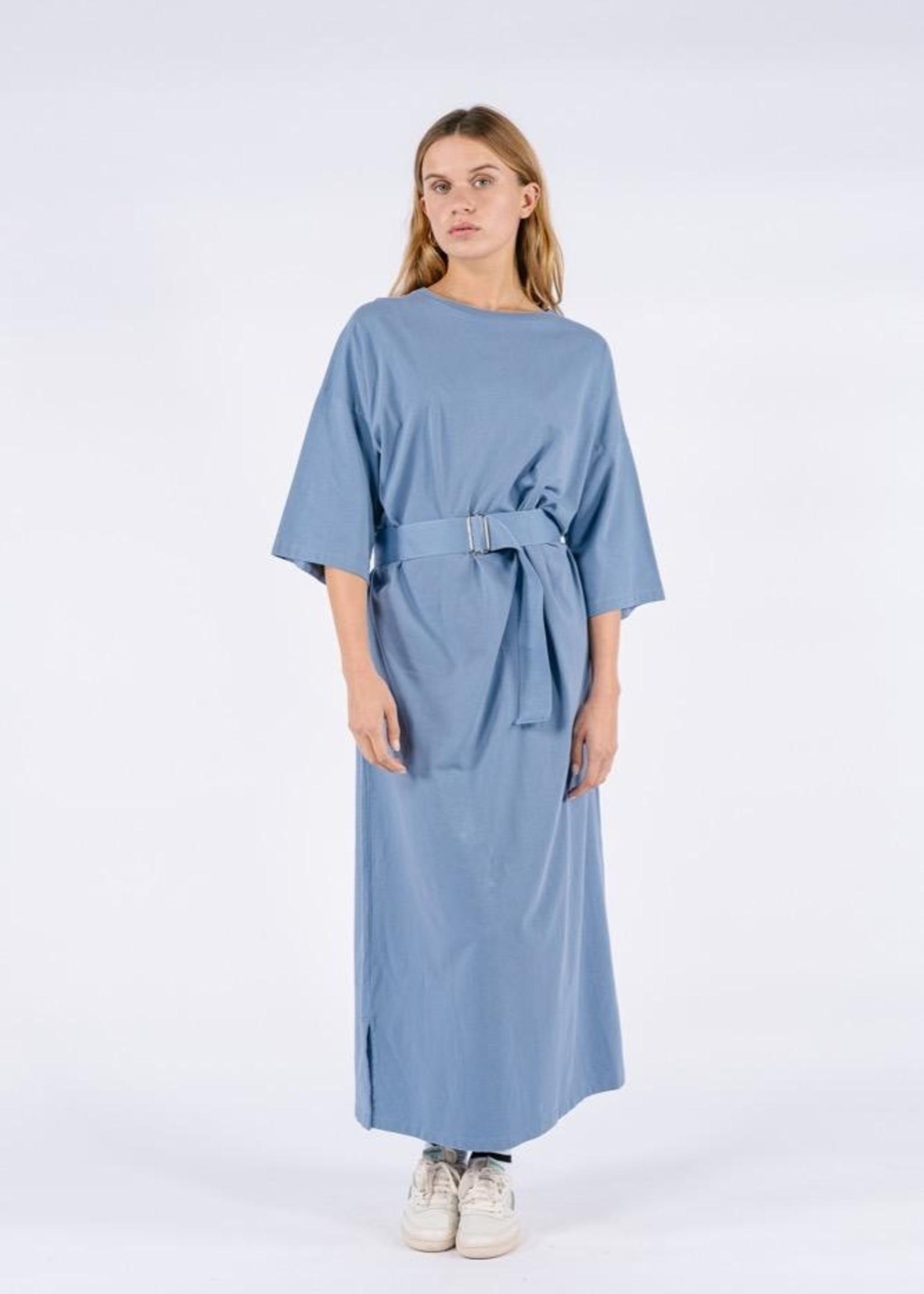 Ame ame antwerp dasil dress rnd neck belt blue