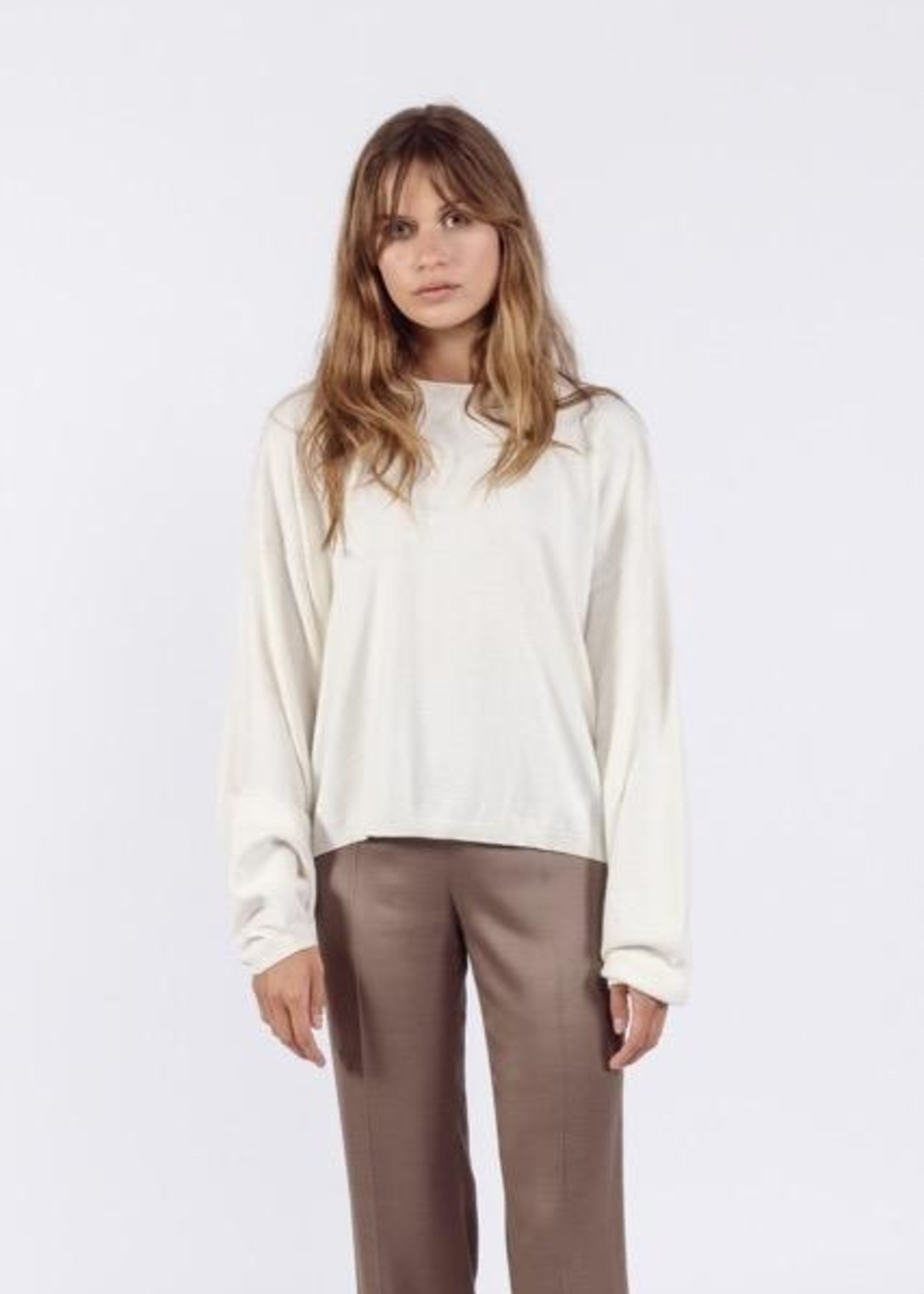 Ame ame antwerp daria  pullover cotton cash off white