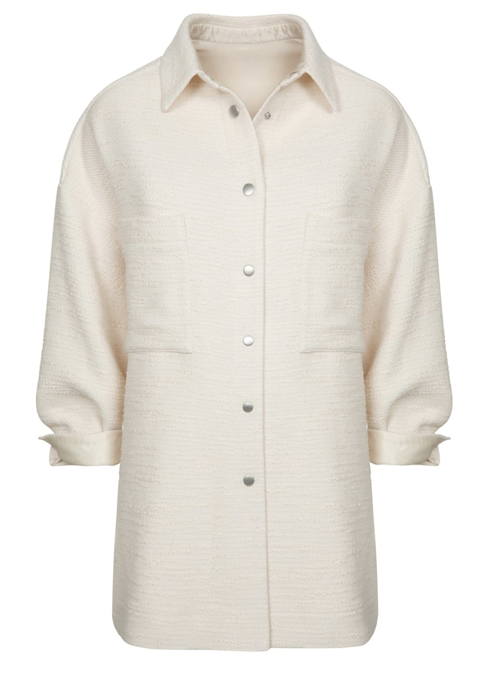 Ame ame antwerp jacket closure with pressed buttons off white