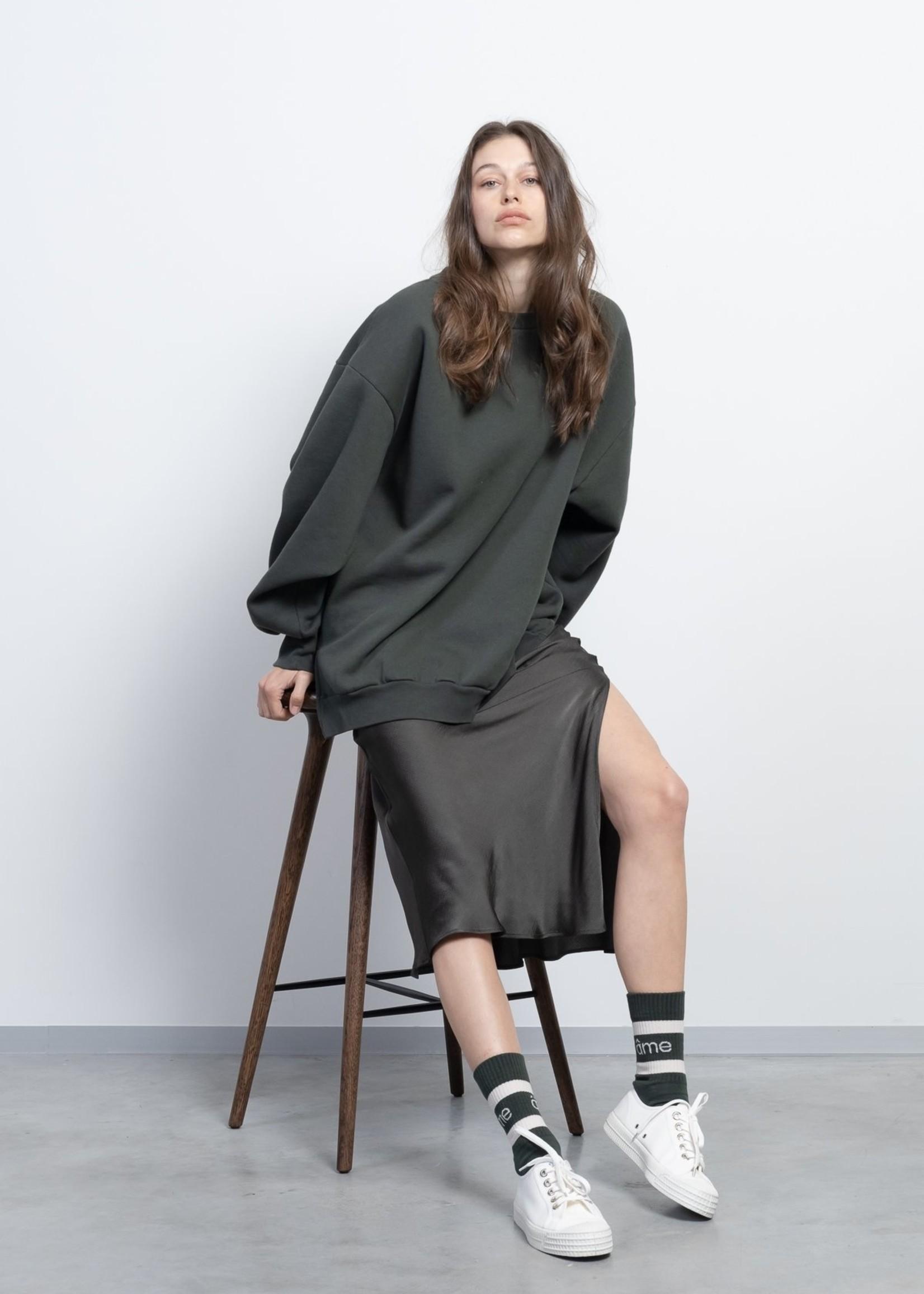Ame ame antwerp skirt with split bristol green