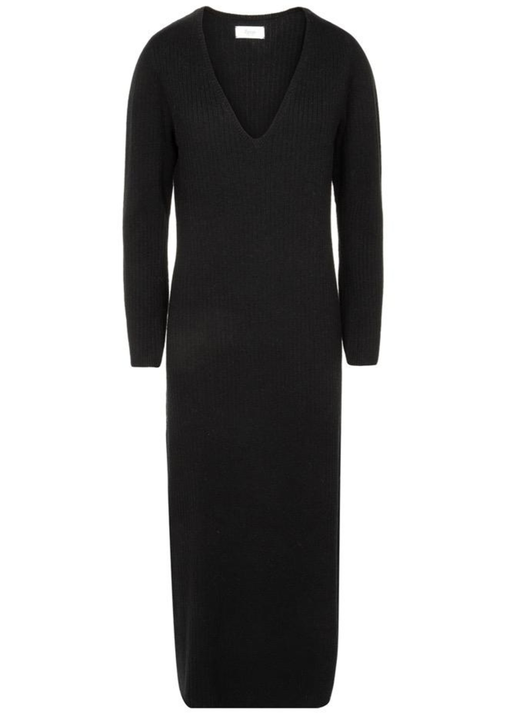 Ame ame antwerp knitted v neck dress black