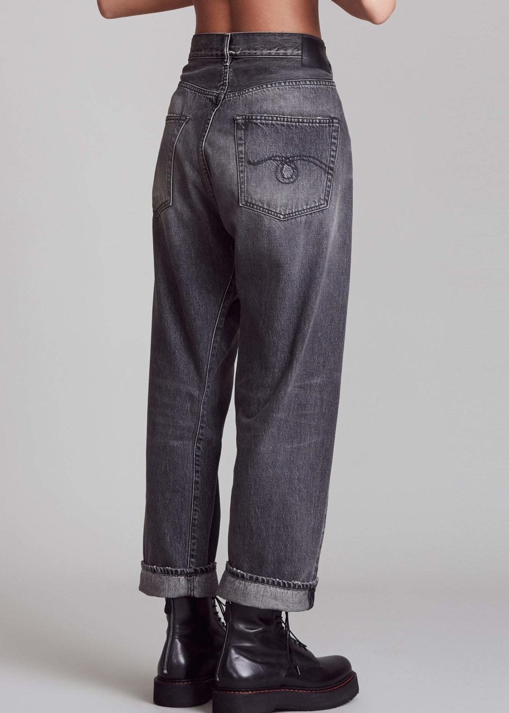 r13 R13 cross over jeans , leyton black