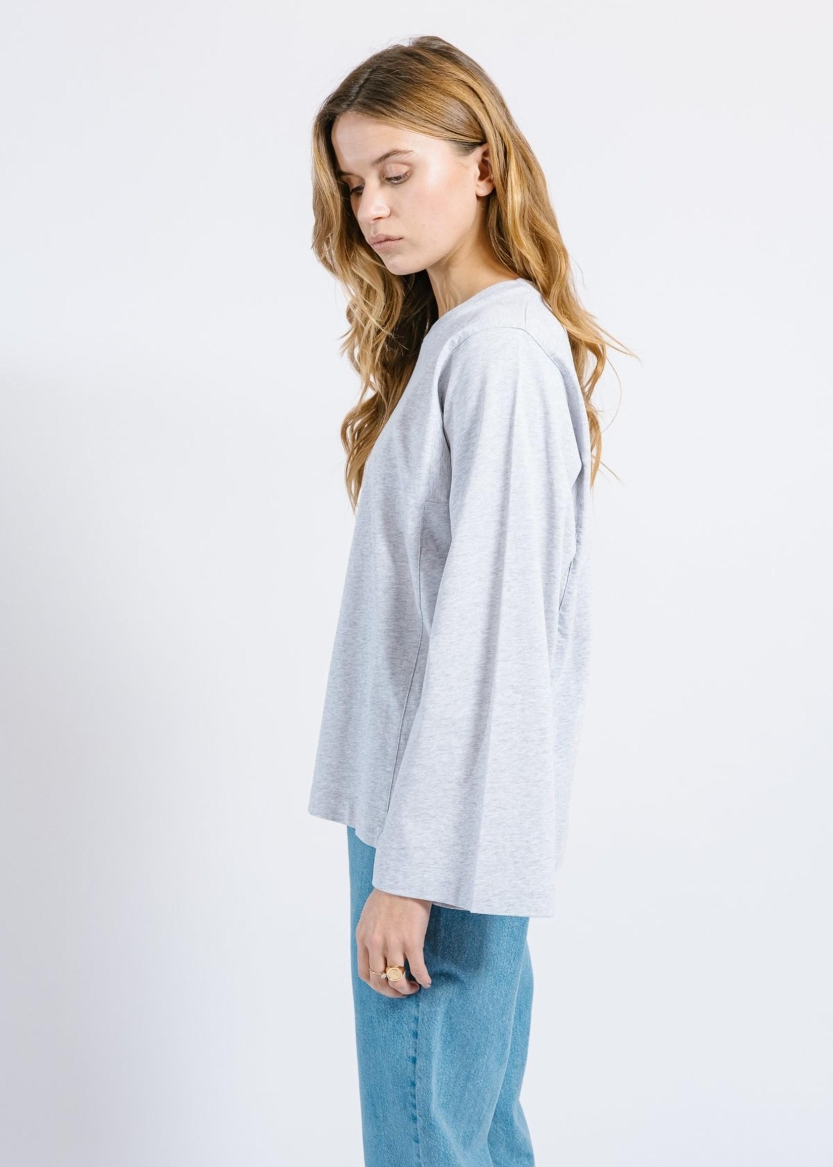 Ame ame antwerp enora shirt long wide sleeves, grey melange