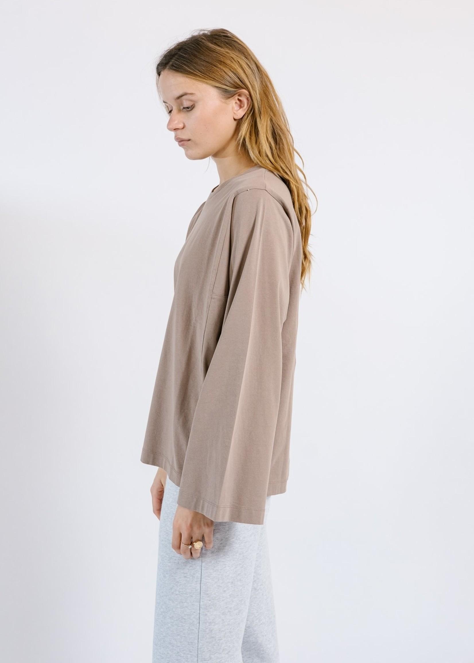 Ame ame antwerp enora shirt wide longsleeves, stone