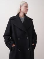 rikastudios rika studios george coat wool , black