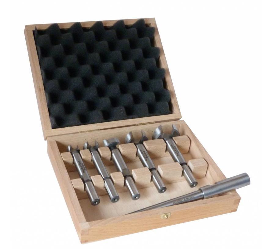 Forstner bit Maxicut set 6 dlg. 15 - 35 mm met verlengstuk