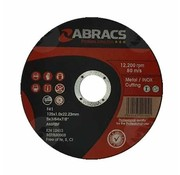 Abracs 125 x 1.0 x 22 mm doorslijpschijf inox/metaal
