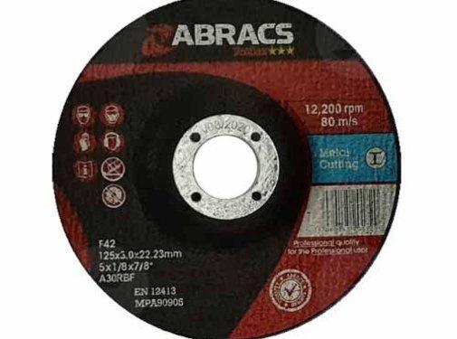 Abracs 125 x 3.0 x 22 mm doorslijpschijf metaal