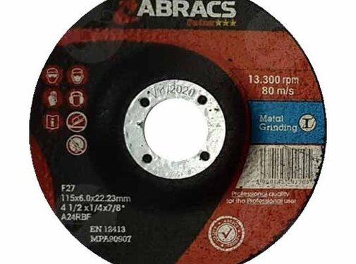 Abracs 115 x 6.0 x 22 mm afbraamschijf metaal