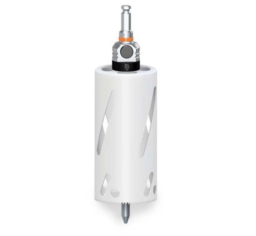 MXqs gatzaag extra lang 165 mm Bi-metaal | incl. MXqs adapter excl. centreerpin