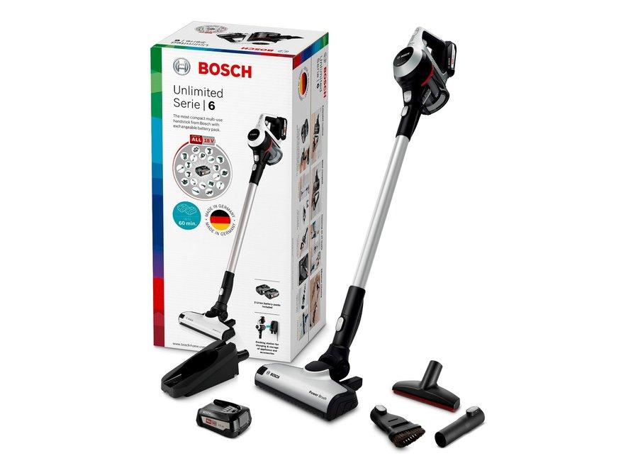 Bosch BCS612KA2 Serie   6 Oplaadbare stofzuiger Unlimited Wit