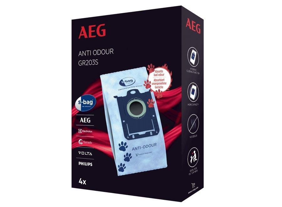 AEG GR203S S-bag Anti-Odour 4 stuks Stofzuigerzakken