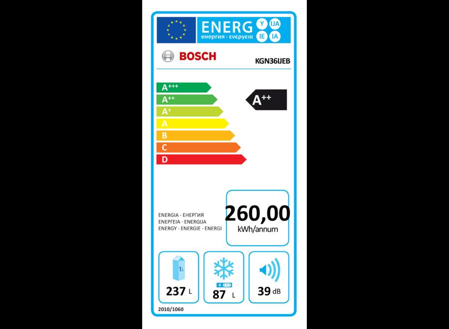 Bosch KGN36IJEB Koel-Vriescombinatie