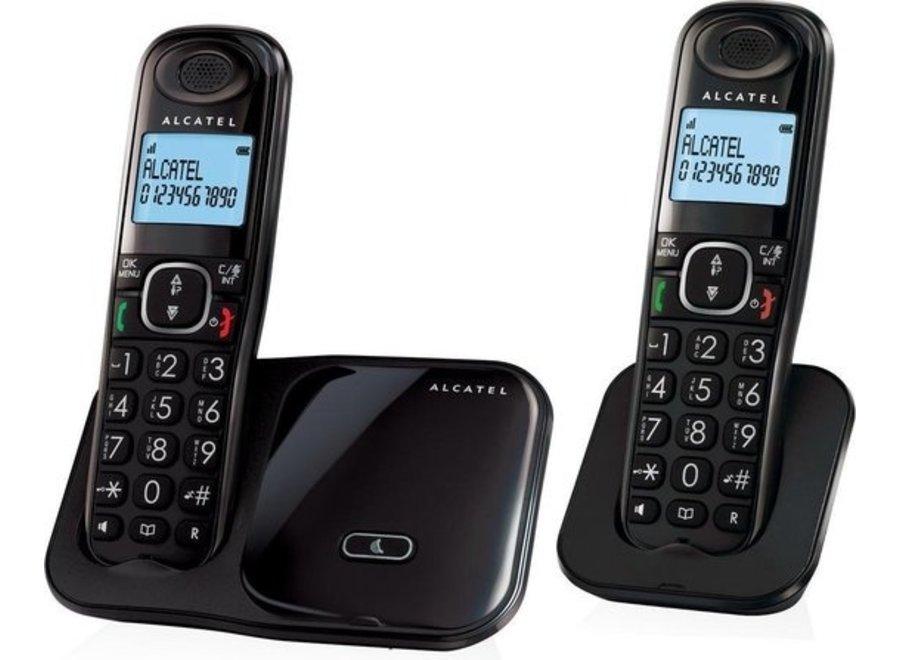 Alcatel XL280 Duo Dect Huistelefoon Zwart