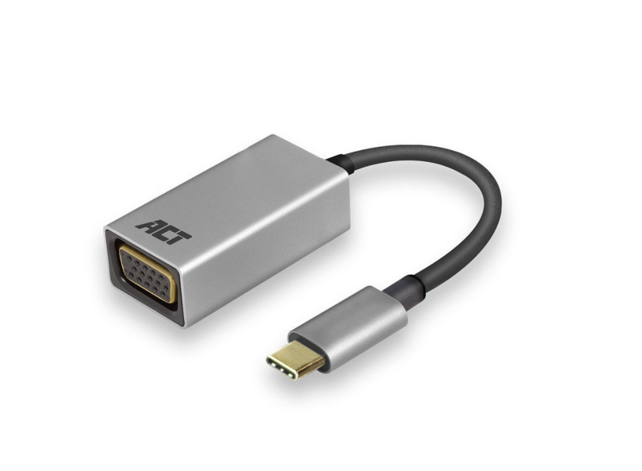 ACT AC7000 USB-C adapter naar VGA female 0,15m