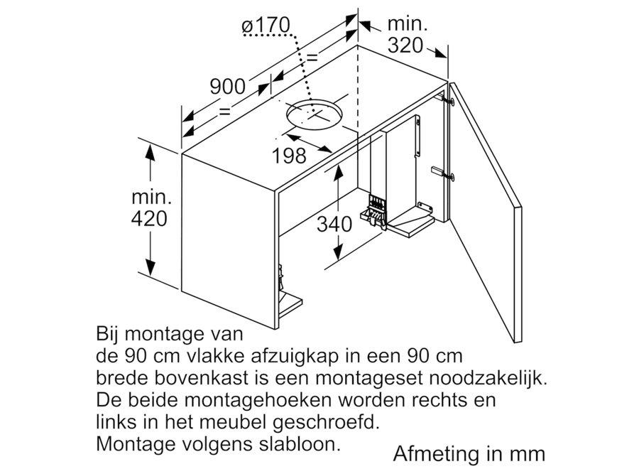 Bosch DSZ4920 Afzuigkap Montageset voor 90 cm bovenkast
