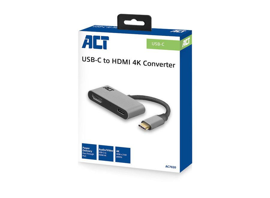 ACT AC7020 USB-C - HDMI female adapter