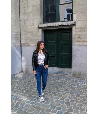 Blauwe high waist jeans