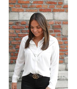 Witte blouse met V-detail