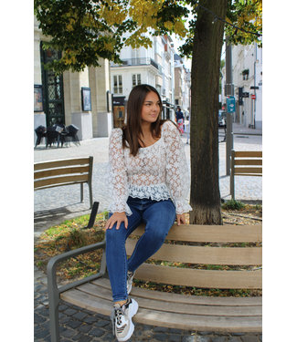 Witte snow blouse