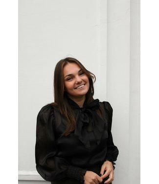 Zwarte shimmery blouse