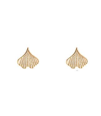 Heart Shaped Shell earstud - gold