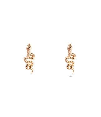 Snake earstud - gold