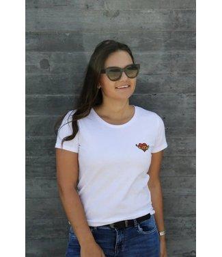 Witte heart of rock t-shirt