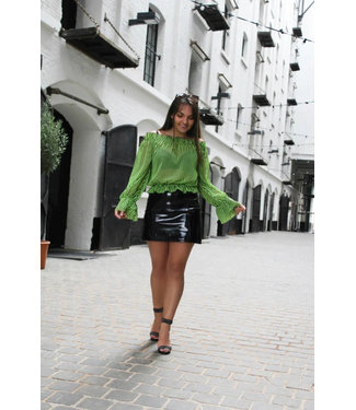Neon off-shoulder blouse