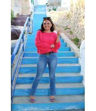 Licht blauwe flared jeans