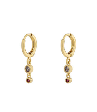 Two Zirconia Stones Earhoops