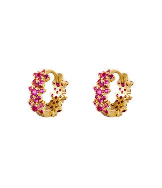 Pink Monarch earhoops